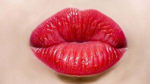 Preview wallpaper lips, girl, lipstick, kiss