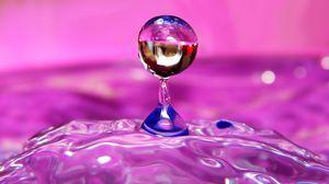 Preview wallpaper liquid, droplet, form, light, color