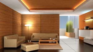 Preview wallpaper living, graphics, design, balcony, lighting, furniture