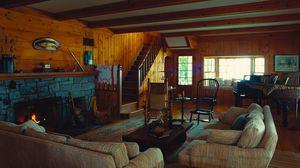 Preview wallpaper living room, ladder, furniture, vintage