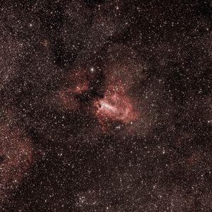 Preview wallpaper lobster nebula, nebula, glow, stars, glare, space, red