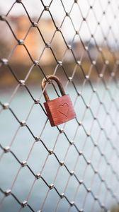 Preview wallpaper lock, heart, love, mesh