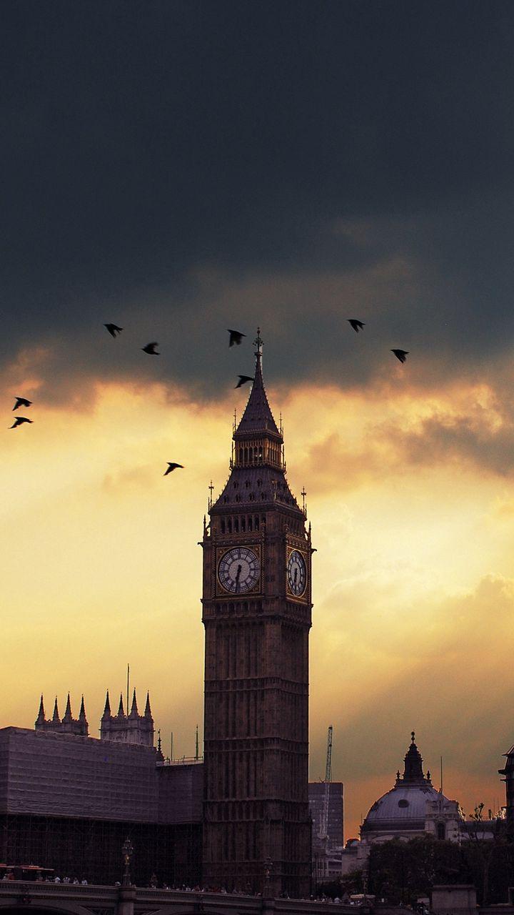 720x1280 Wallpaper london, big ben, sunset, shadow, sky