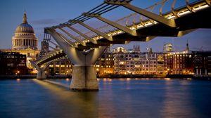 Preview wallpaper london, bridge, building, night