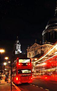 Preview wallpaper london, city, bus, night