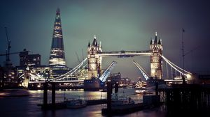 Preview wallpaper london, england, uk, tower bridge, thames