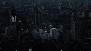 Preview wallpaper london, united kingdom, night city, skyscrapers