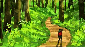 Preview wallpaper lonely, loneliness, forest, art