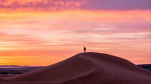 Preview wallpaper lonely, loneliness, silhouette, desert