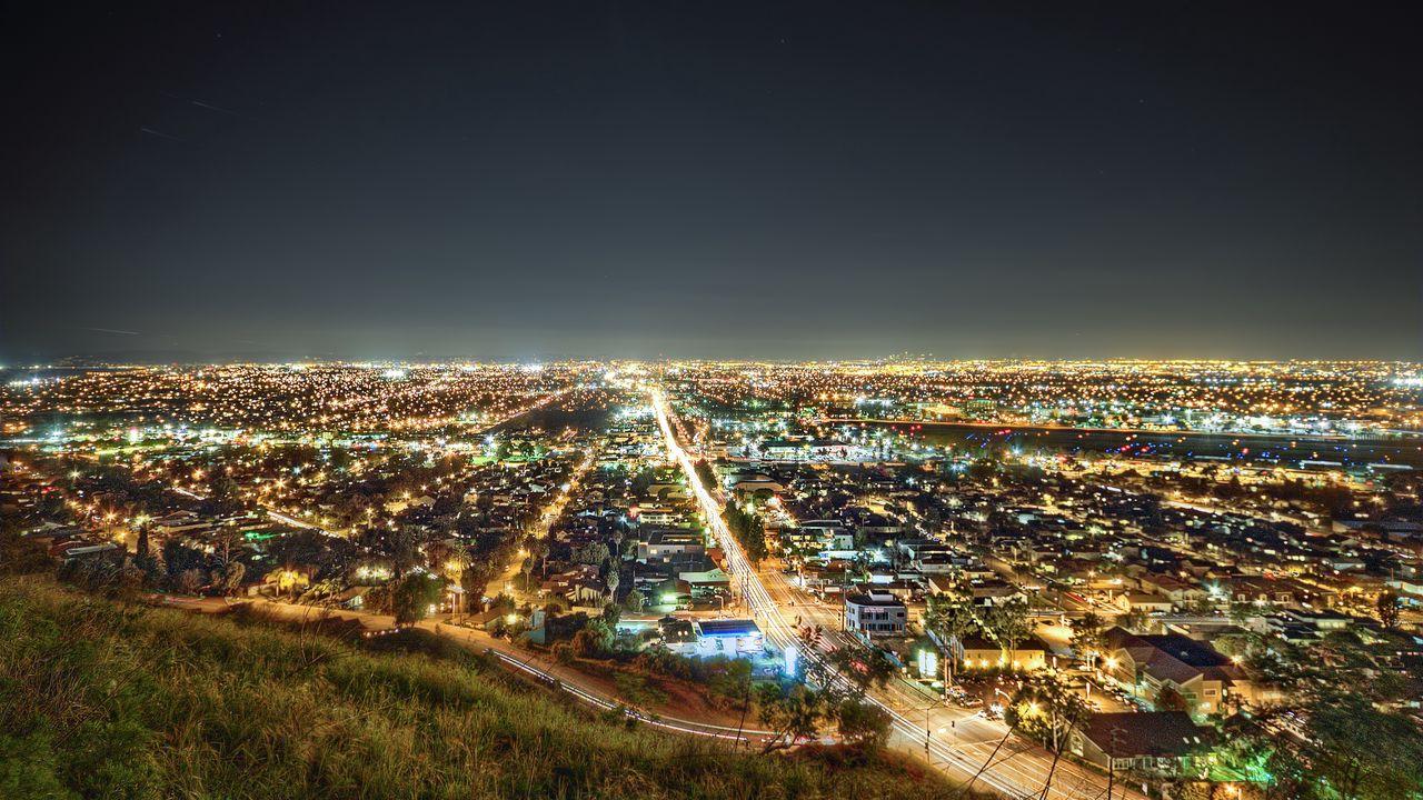 Wallpaper los angeles, california, night