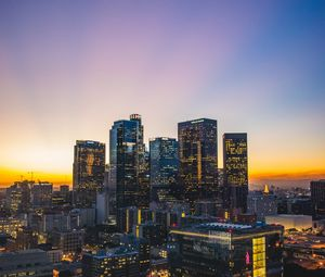 Preview wallpaper los angeles, usa, skyscrapers, sunset