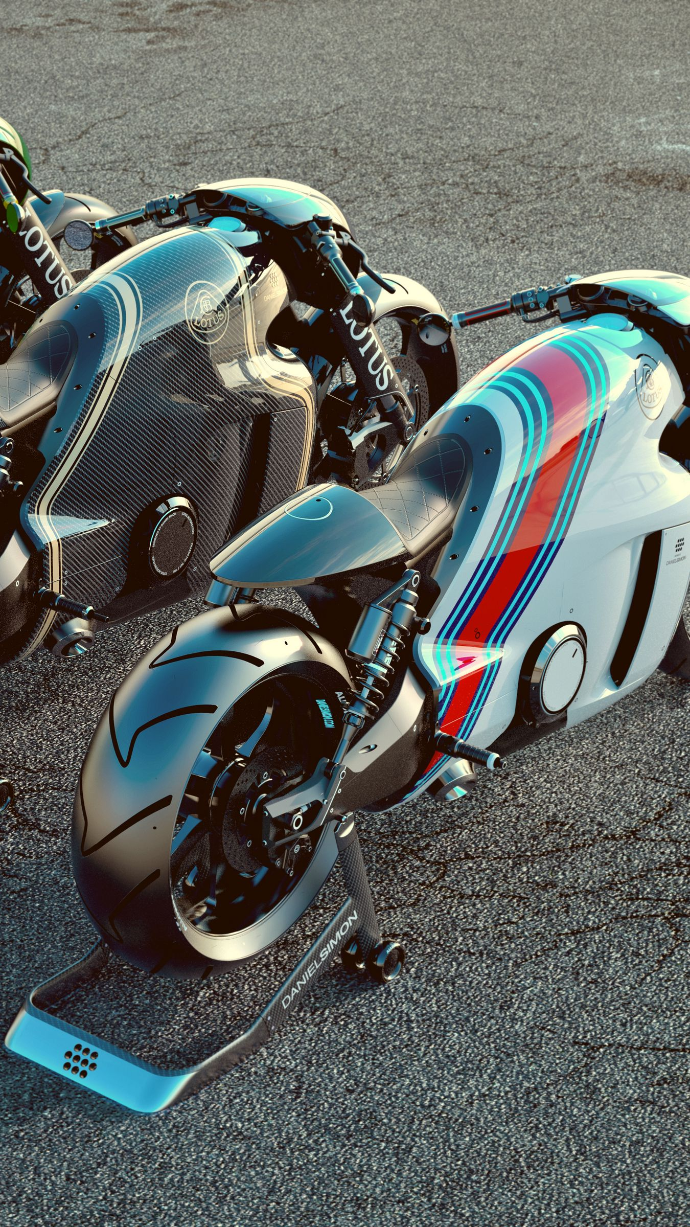 1350x2400 Wallpaper lotus c-01, bike, superbike, render