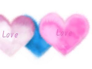 Preview wallpaper love, heart, light, pink, blue