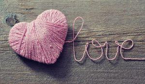 Preview wallpaper love, heart, strings, romance