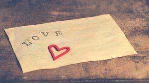Preview wallpaper love, inscription, heart