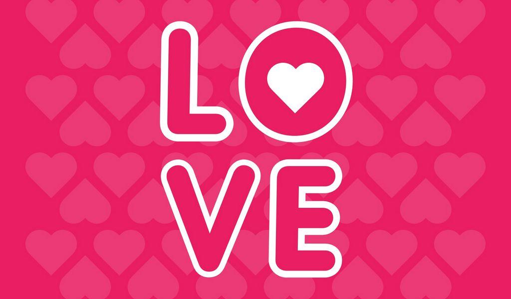 1024x600 Wallpaper love, inscription, hearts