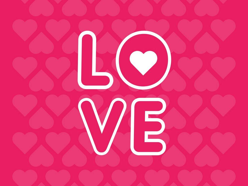 1024x768 Wallpaper love, inscription, hearts