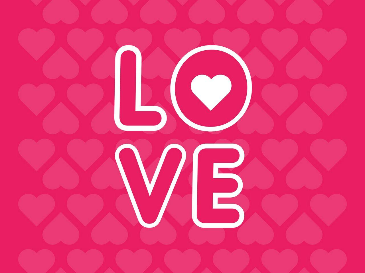 1280x960 Wallpaper love, inscription, hearts