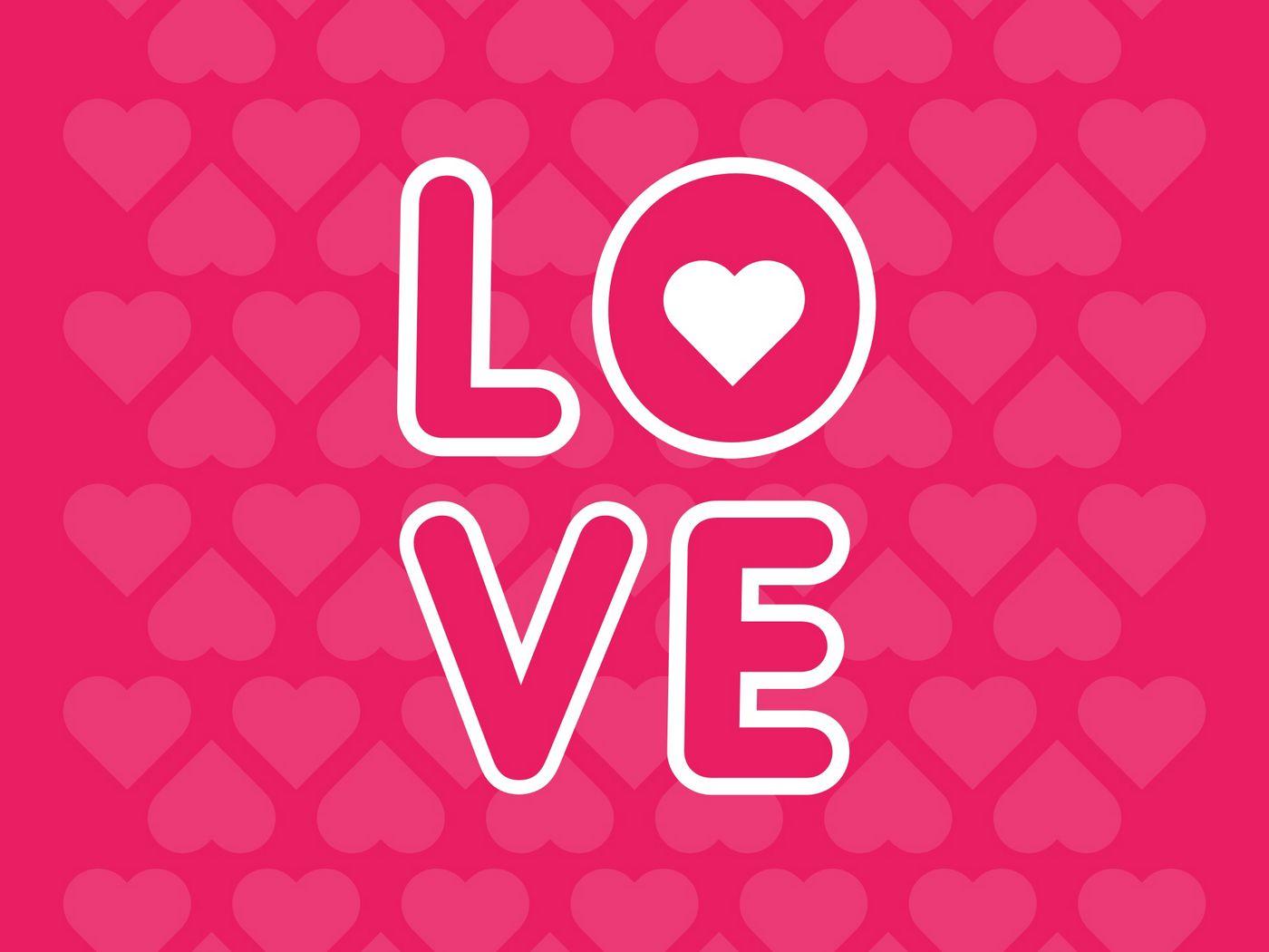 1400x1050 Wallpaper love, inscription, hearts