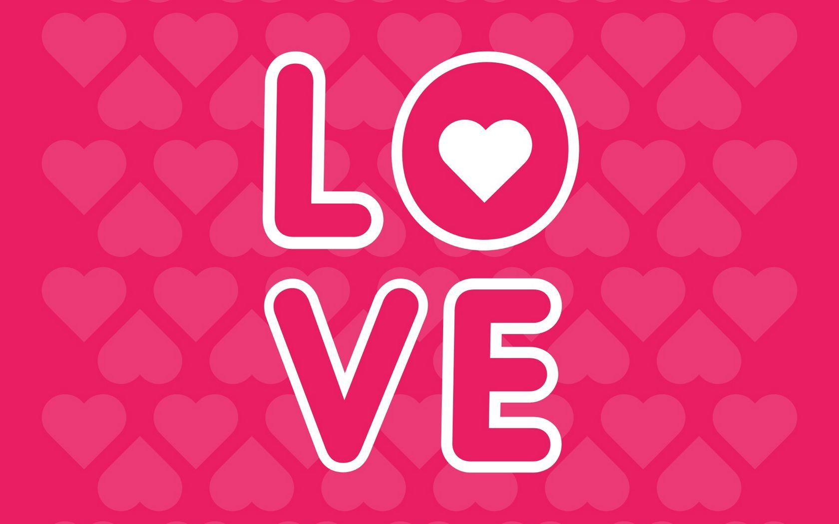 1680x1050 Wallpaper love, inscription, hearts