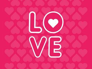 320x240 Wallpaper love, inscription, hearts
