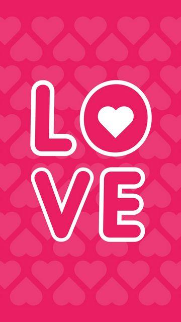360x640 Wallpaper love, inscription, hearts