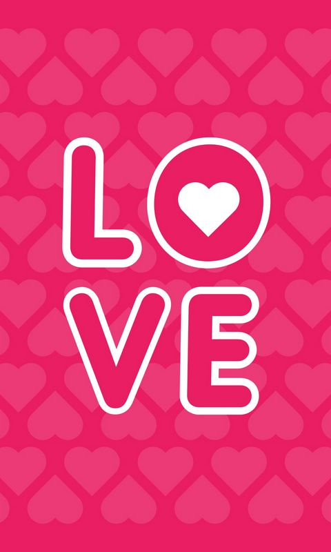 480x800 Wallpaper love, inscription, hearts