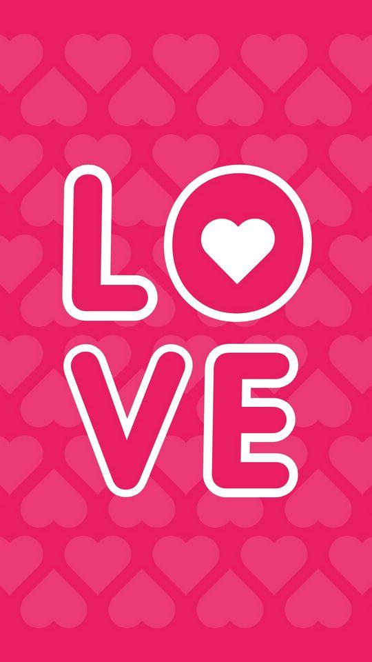 540x960 Wallpaper love, inscription, hearts