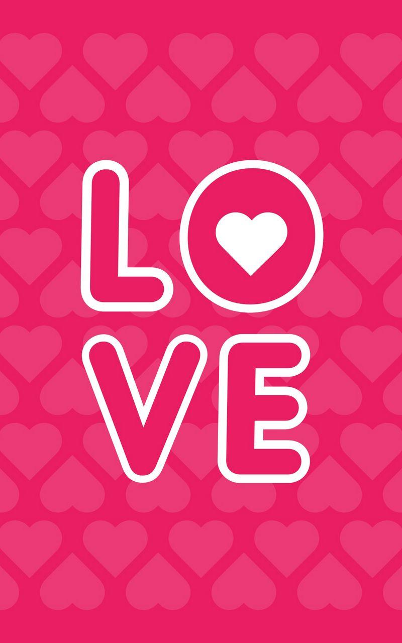 800x1280 Wallpaper love, inscription, hearts