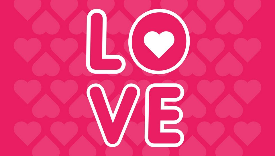 960x544 Wallpaper love, inscription, hearts