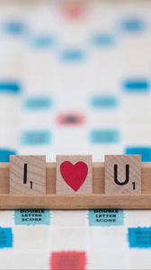 Preview wallpaper love, letters, heart, phrase