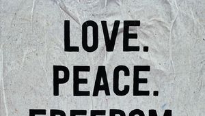 Preview wallpaper love, peace, freedom, words, inscription