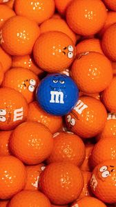 Preview wallpaper m and m, golf, balls, bright