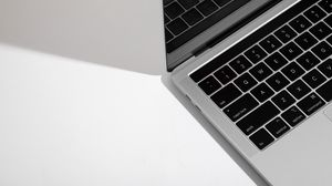 Preview wallpaper macbook, apple, keys, white, computer