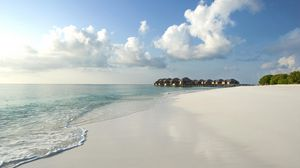 Preview wallpaper maldives, beach, sand, sea, tropics