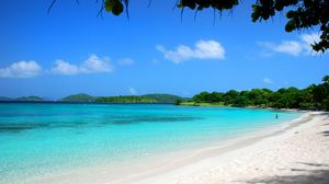 Preview wallpaper maldives, tropical, beach, sand, summer, palm trees