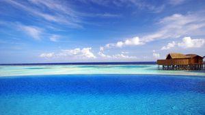 Preview wallpaper maldives, tropical, bungalows, ocean