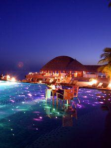 Preview wallpaper maldives, tropical, resort, evening