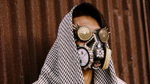 Preview wallpaper man, mask, steampunk, style