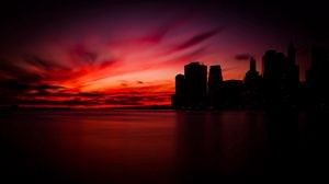 Preview wallpaper manhattan, new york, night, shadows