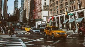 Preview wallpaper manhattan, new york, street, car