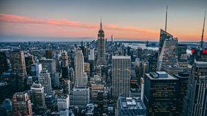 Preview wallpaper manhattan, new york, usa, skyscrapers