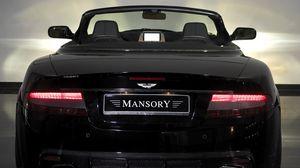 Preview wallpaper mansory, aston martin, db9, 2008, black, rear view, style, cars