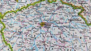 Preview wallpaper map, prague, travel, czech republic