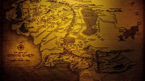 Preview wallpaper map, world, geography, brown