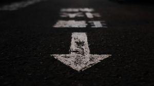 Preview wallpaper marking, asphalt, pointer, arrow, street