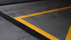 Preview wallpaper marking, lines, asphalt, gray, yellow