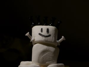 Preview wallpaper marshmallows, sweets, snowman, funny