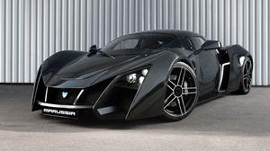 Preview wallpaper marussia, sports car, black