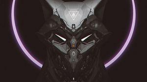 Preview wallpaper mask, cyborg, robot, circle, dark